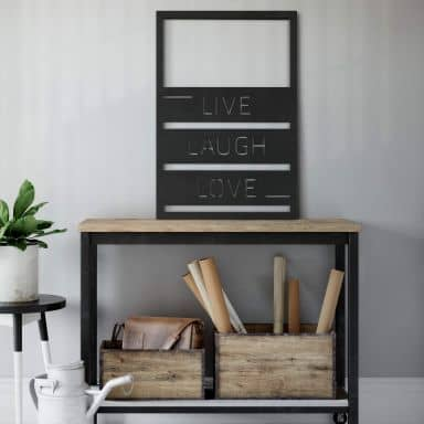 MDF Decoratie Live Laugh Love
