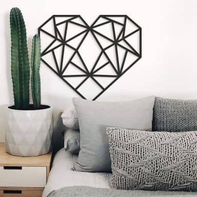 MDF - Holzdeko Origami Herz