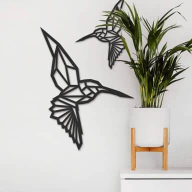 MDF Decoratie Origami Kolibrie