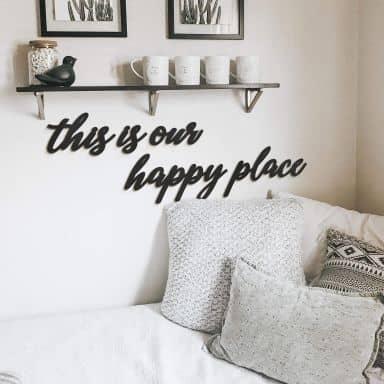 Décoration en bois MDF - This is our happy place