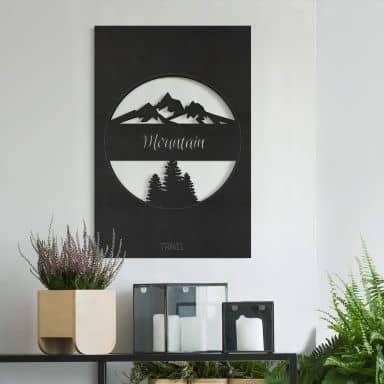 MDF Decoratie Travel Mountain