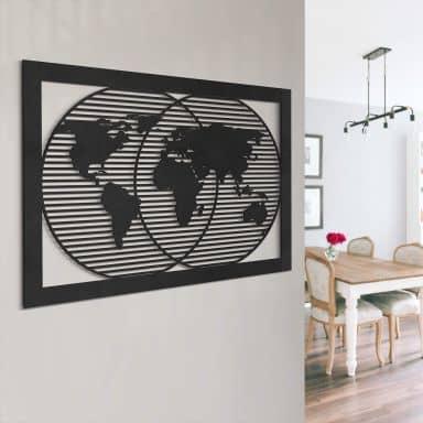 MDF Decoratie Wereldkaart