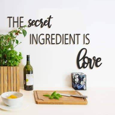 MDF - Holzdeko The secret ingredient is love