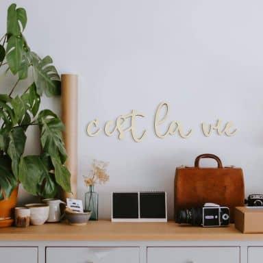 Holzbuchstaben Pappel C'est la vie