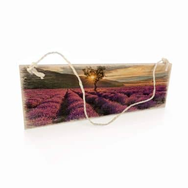 Holzschild Lavendelblüte in der Provence