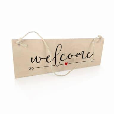 Targa in legno - Welcome