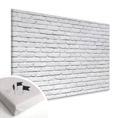 Tableau en liège - Toile - Briques blanches