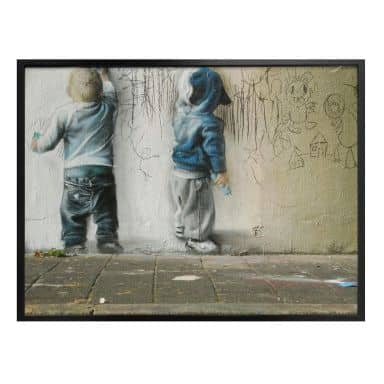 Poster Banksy - Boys drawing