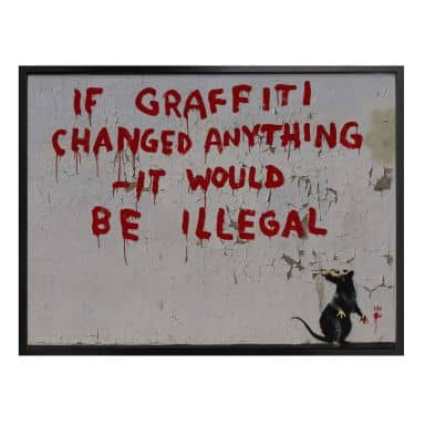 Poster Banksy - If graffiti changed anything