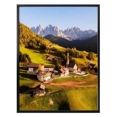 Poster Colombo - Kleines Dorf in den Dolomiten