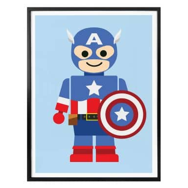 Poster Gomes - Captain America toys
