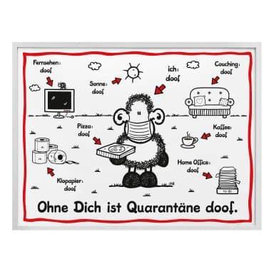 Poster Sheepworld - Quarantäne doof