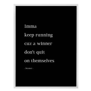 Poster Keep running...