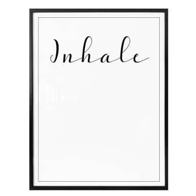 Poster Inhale
