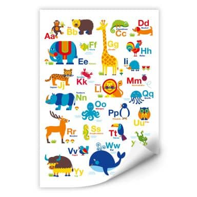 Wallprint byGraziela - ABC Tiere