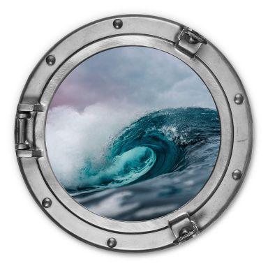 Alu-Dibond 3D Optik - Das tosende Meer - Rund