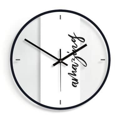 Orologio in vetro - Amazing Ø30 cm