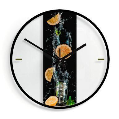 Wanduhr aus Glas - Belenko - Splashing Lemonade Ø30 cm