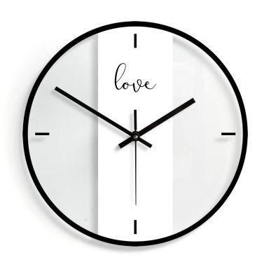 Orologio in vetro - Love Ø30 cm