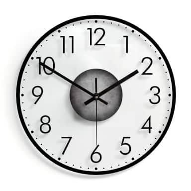 Horloge murale en verre -  Moderne avec minutes