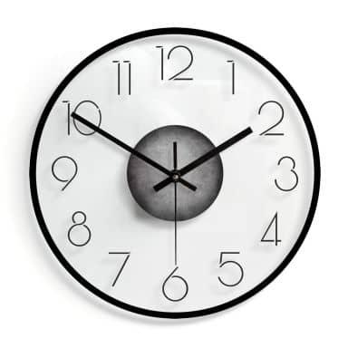 Horloge murale en verre -  Moderne avec chiffres 02