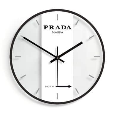 Wanduhr aus Glas - Prada Marfa Ø30 cm