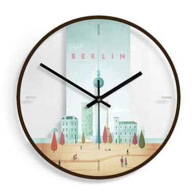 Orologio in vetro Rivers - Berlino Ø30cm