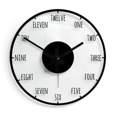 Orologio in vetro - Orario Ø30 cm