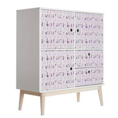 Möbelfolie Leffler - Lavendel Frauen