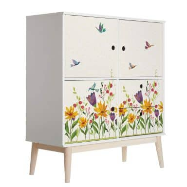 Furniture Wrap - Blanz - Flower Poetry