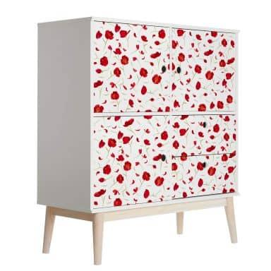 Möbelfolie Leffler - Mohnblüten