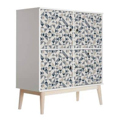 Sticker meuble, Film décoratif adhésif - lavable - Géométrique