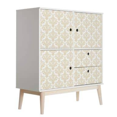 Sticker meuble, Film décoratif adhésif - lavable - Baroque ocre