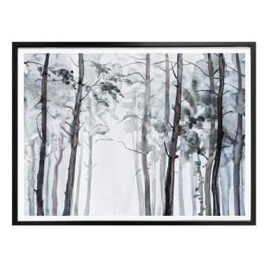 Poster Aquarell Wald