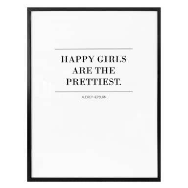 Poster Audrey Hepburn - Happy Girls