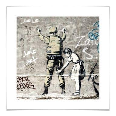 Poster Banksy - Das Mädchen und der Soldat