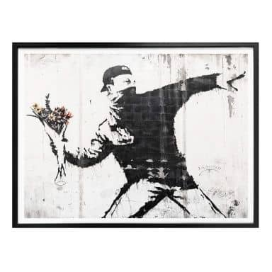 Plakat - Banksy - Flower Thrower