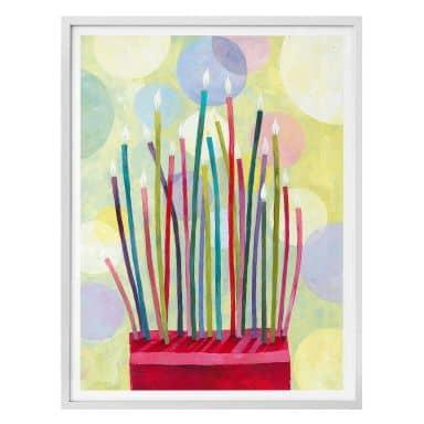 Poster Blanz - Geburtstagskerzen
