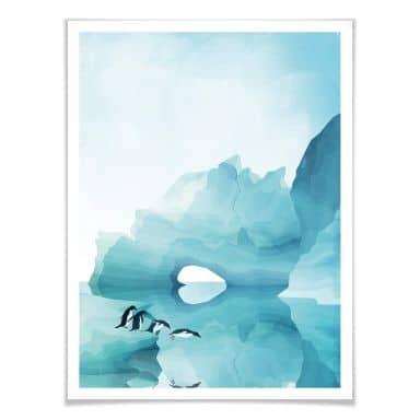 Poster Goed Blauw - Pinguine