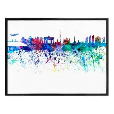Poster Bleichner - Berlin Aquarell Skyline