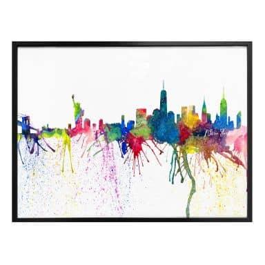 Poster Bleichner - New York City Aquarell Skyline