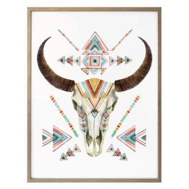 Poster Bohemian Skull
