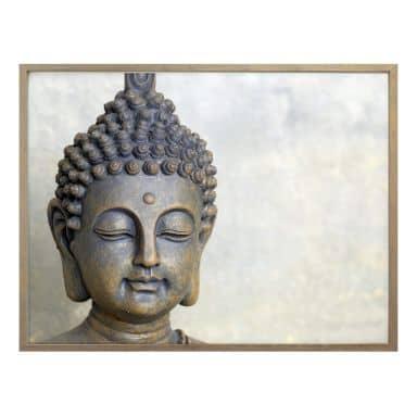 Poster Buddha face