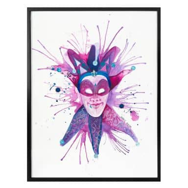 Poster Buttafly - Mardi Gras Mask