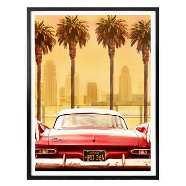 Poster Butterworth - Oldtimer in Los Angeles