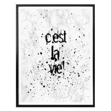 Plakat - C'est la vie