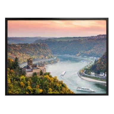 Poster Colombo - Der Rhein im Herbst
