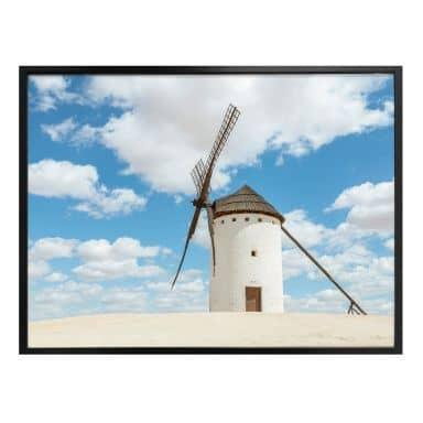Poster Colombo - Windmühlen auf der Don Quijote Route in Spanien