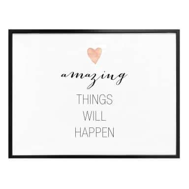 Poster Confetti & Cream - Amazing things will happen