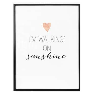 Poster – I'm walking on Sunshine